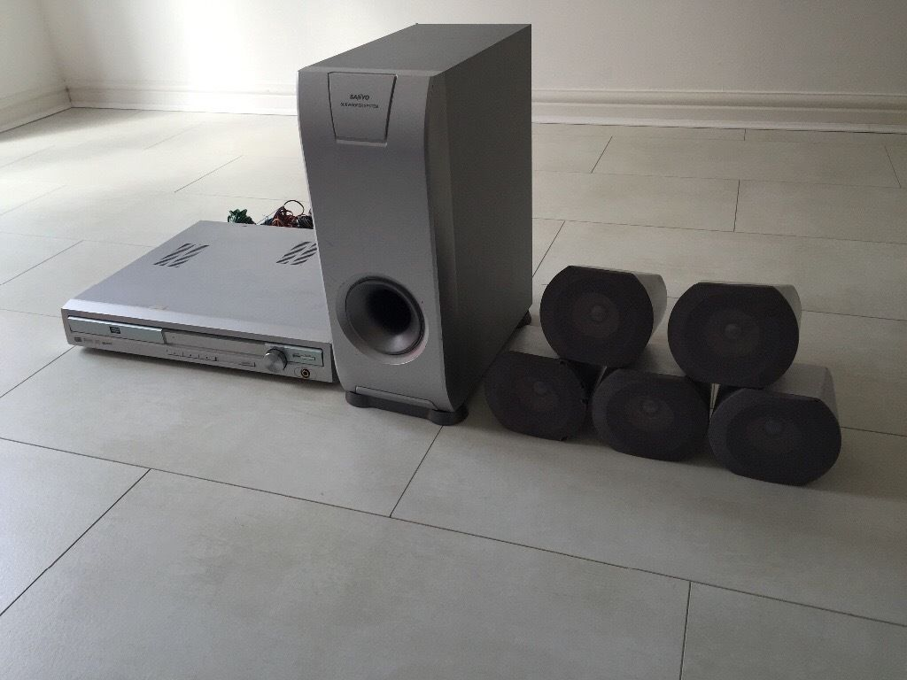 Sanyo DVD home cinema system with 5 speakers & a subwoofer