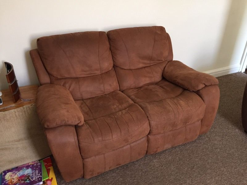 Two seat reclining sofa