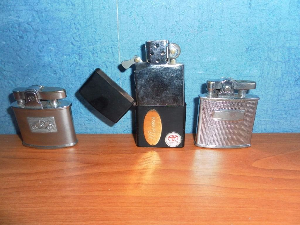 Three Lighters including Two Vintage