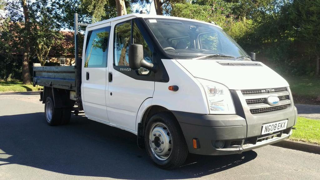 FORD TRANSIT TIPPER DOUBLE CAB 2008 NO VAT FULL SERVICE HISTORY