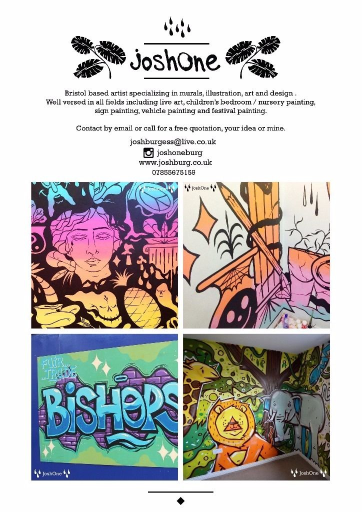 Mural Artist, Graffiti artist, Illustrator and Designer