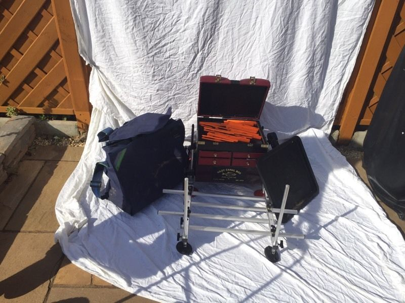 Great Fishing Box (with footrest) and equipment