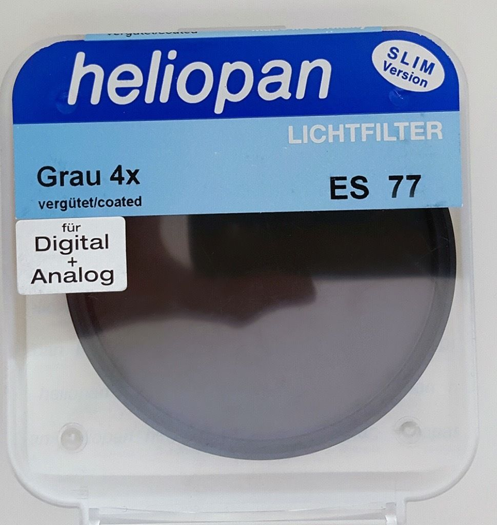 Heliopan ND filter 77mm slim version 0.3 4X