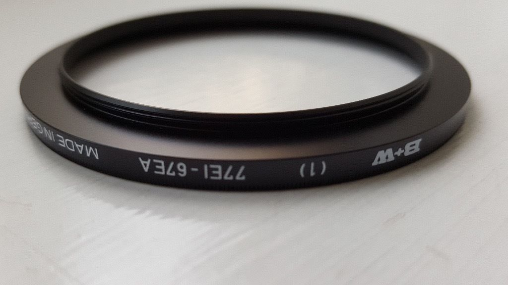 B + W Step-Up Adapter Ring 67mm Lens Thread to 77mm Filter Thread