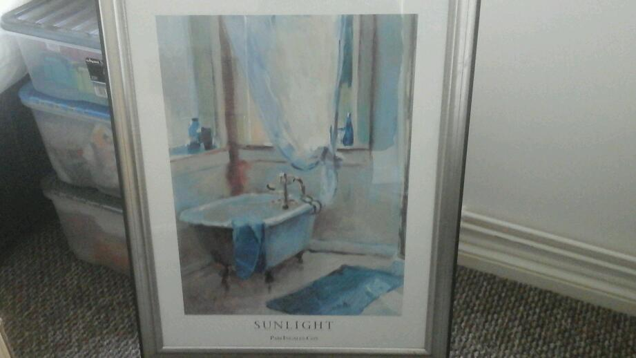 Large print titled Sunlight in silver coloured frame