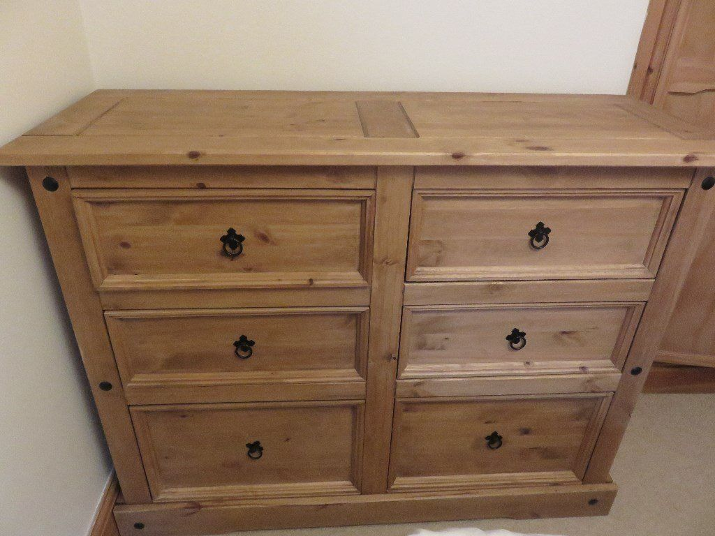 Corona Mexican Pine Six Drawer Chest