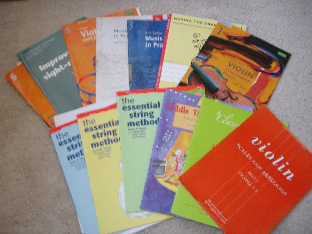 Selection of violin music ranging from beginners to Grade 6 (14 books). Worth over £50.