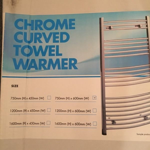 Brand New Curve Towel Warmer