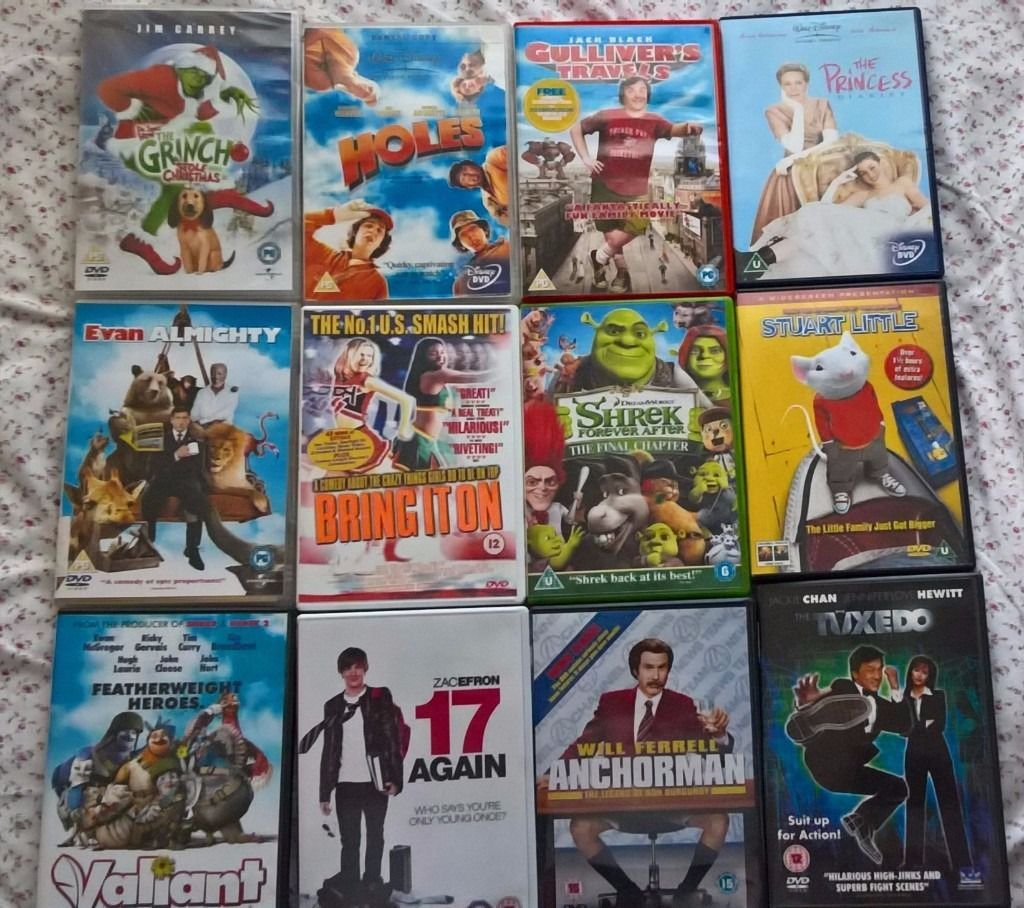 12 Assorted DVDs - Young Adult/Kids/Animation