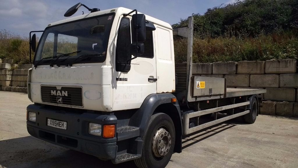 2000 MAN 18-224 18 tonne 25ft flat bed truck