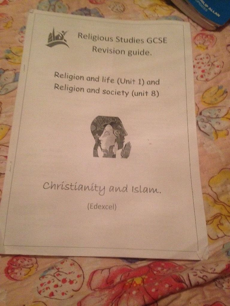 Paper versions Religious studies GCSE revision guide.