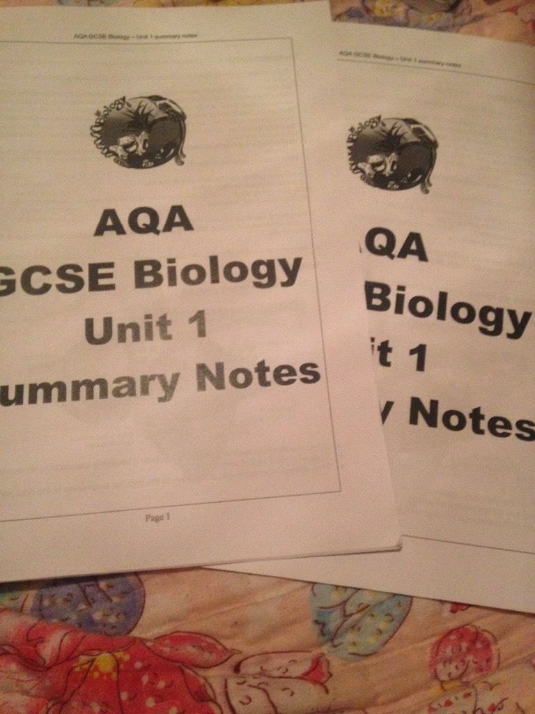 GCSE revision Biology unit 1