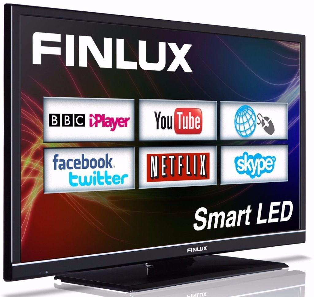 Finlux 32'' Smart LED TV Web Browsing Netflix Skype Freeview HD VH1 (32F8072-T)