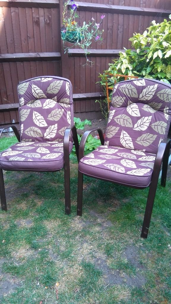 2 METAL GARDEN CHAIRS