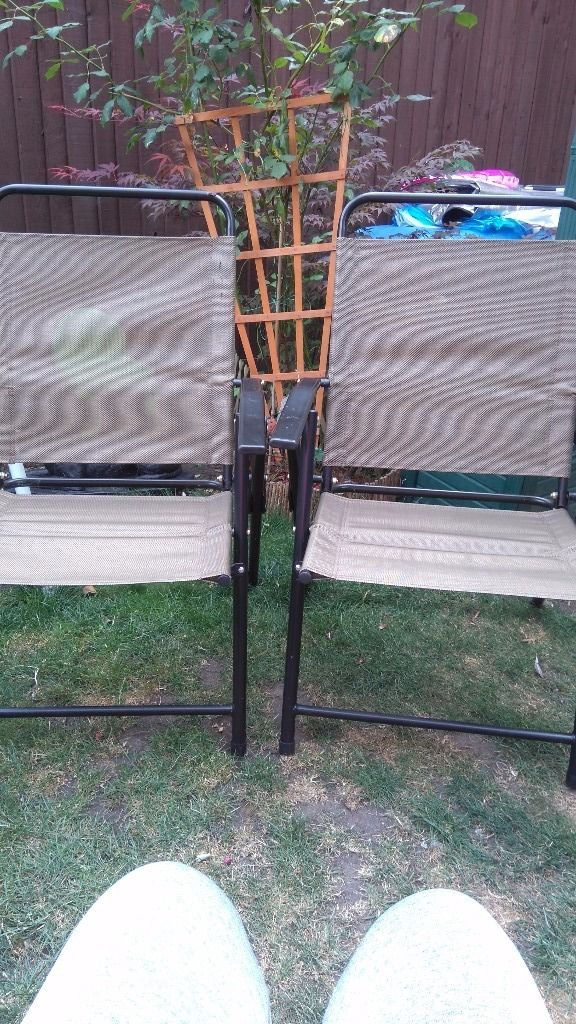 4 FOLDABLE RECLINE GARDEN CHAIRS