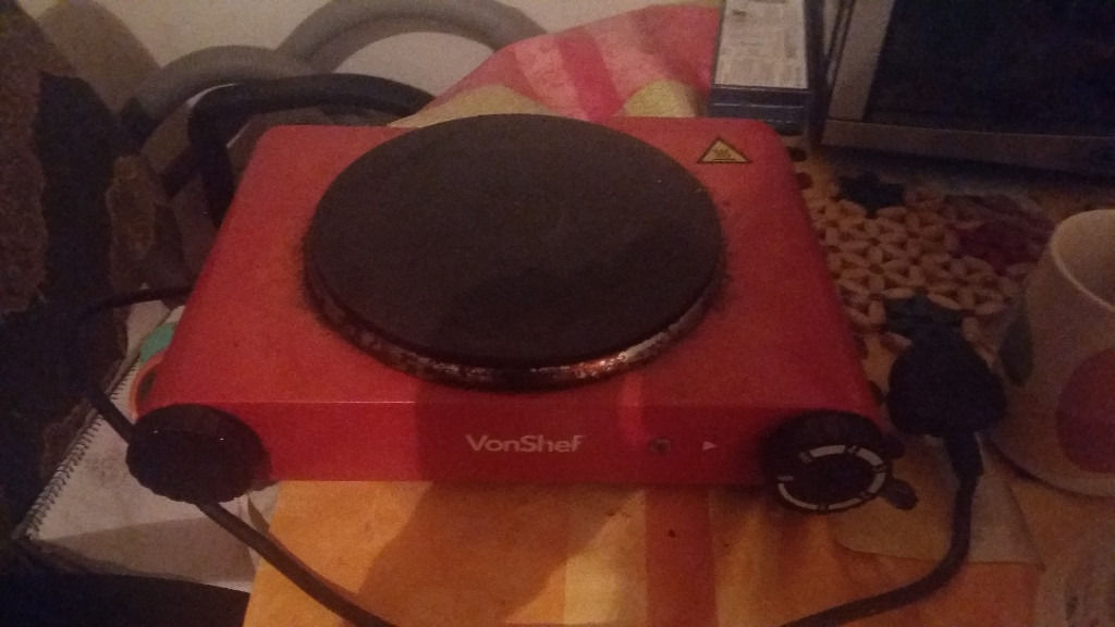 VonShef Hot Plate 1500W Single Electric Table Top Cooker Portable cooker