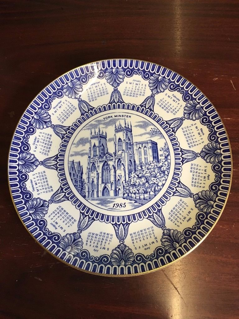 RINGTONS 1985 CALENDAR COLLECTORS PLATE BY MASONS YORK MINSTER