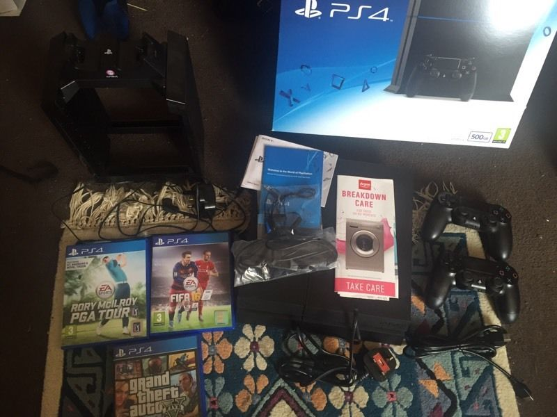 Ps4 with games, accessories & warranty