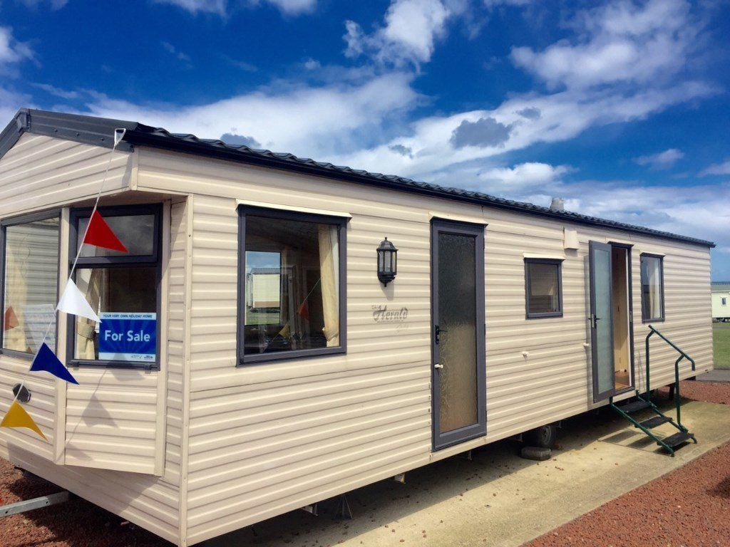 BEAUTIFUL 3 BEDROOM STATIC CARAVAN FOR SALE AT CRIMDON DENE nt WHITLEY BAY , BERWICK , SANDY BAY