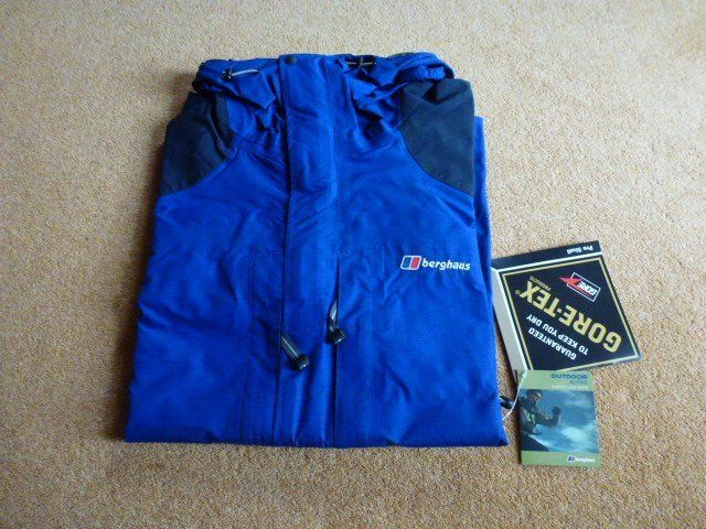 BERGHAUS Mens Pro-teck Pro-Shell Waterproof Jacket - Blue XL - As New
