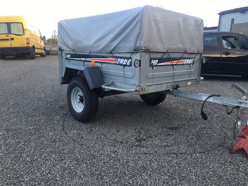 Cracking erde 143 car trailer tipper fully galvanised water proof cover high sides