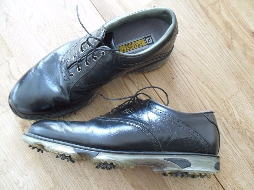FOOTJOY Dryjoy Gents golf shoes 11/46 in Black