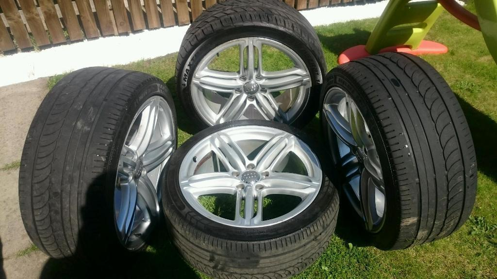 """Genuine audi q7 wheels and tyres 21"""""""