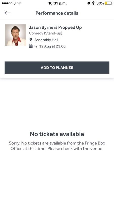 Jason Byrne sold out show tickets.