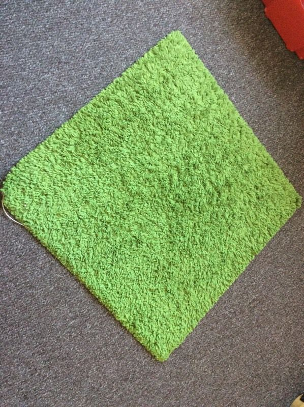 IKEA Hampen Green Square High Pile Rug