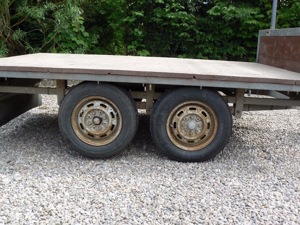 Flat bed trailer for sale.