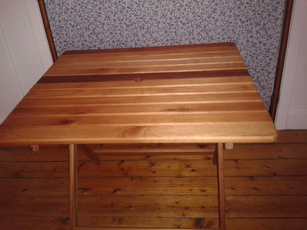 Solid wood folding garden table