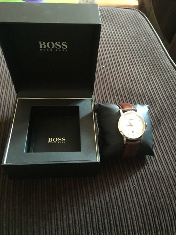 Hugo Boss Brown leather Watch