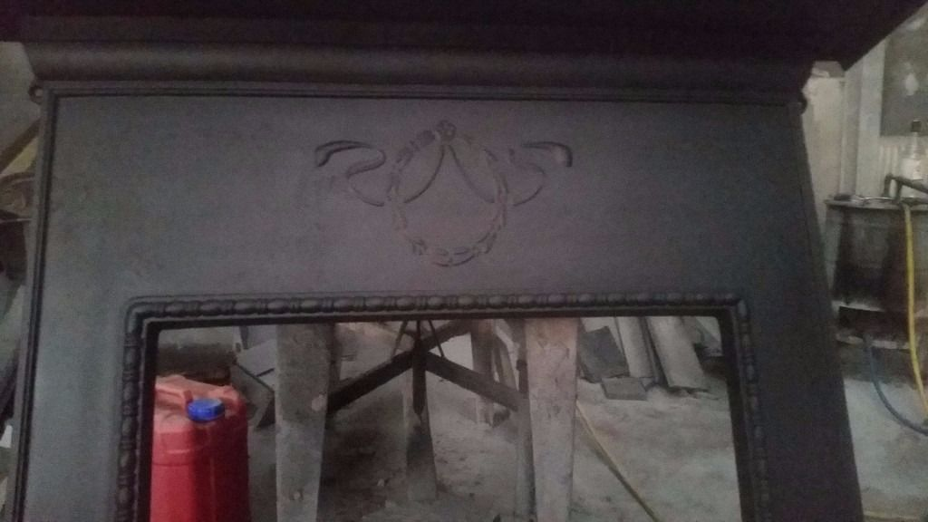Small antique cast iron fireplace surround(stove surround )