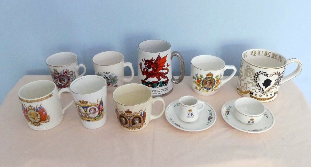 Royal Commemorative China Lots of various items on Mugs etc some over 100 years old