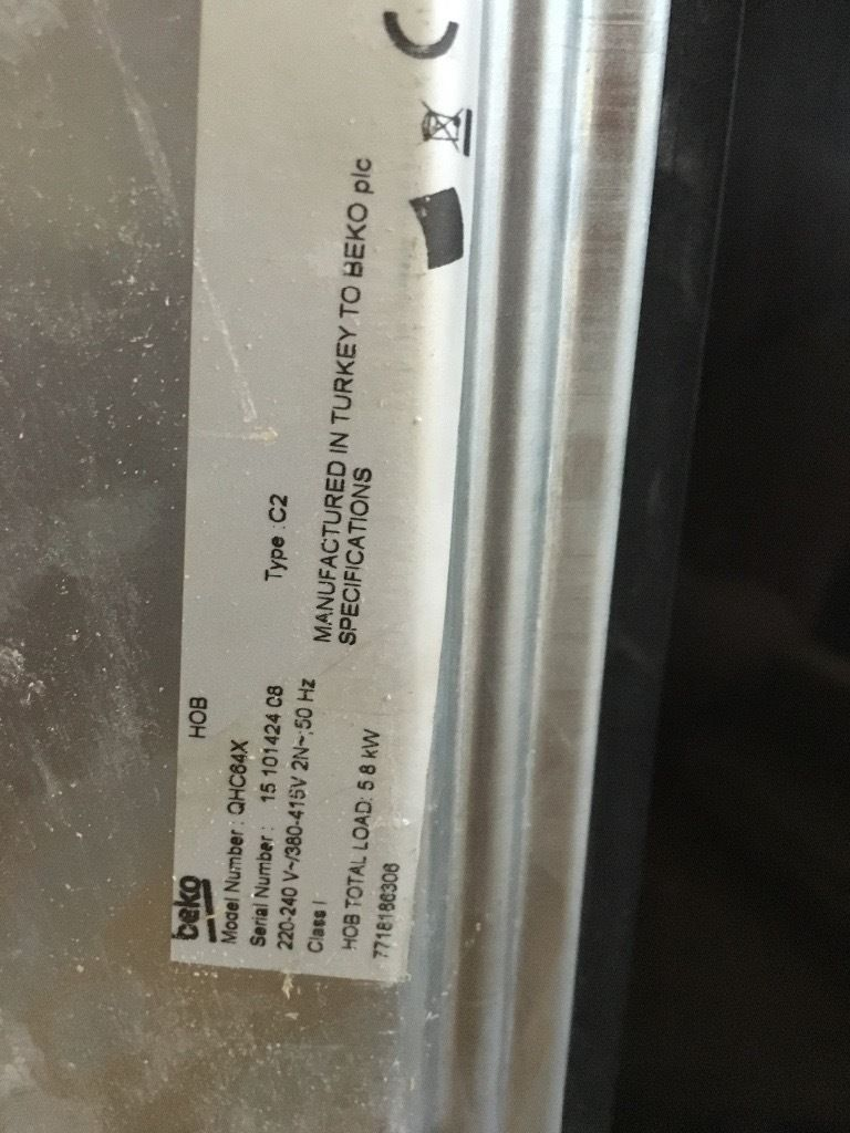 Beko Electric Ceramic Hob - Nearly New