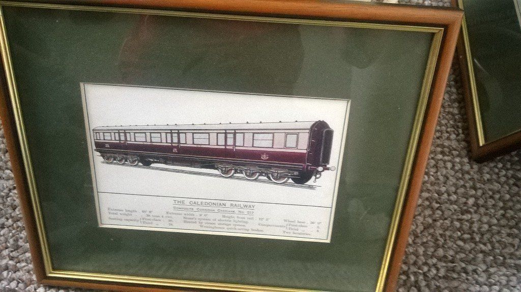1910 framed railway prints