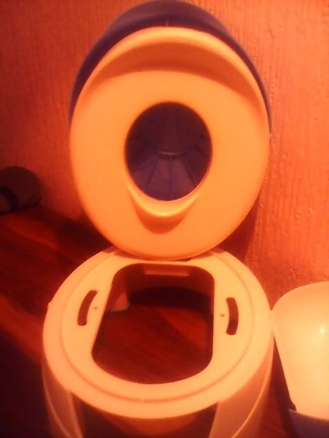 3 in 1 blue & white Potty