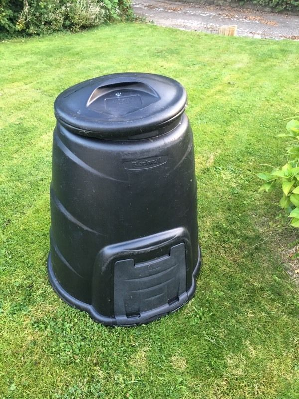 Large black compost bin