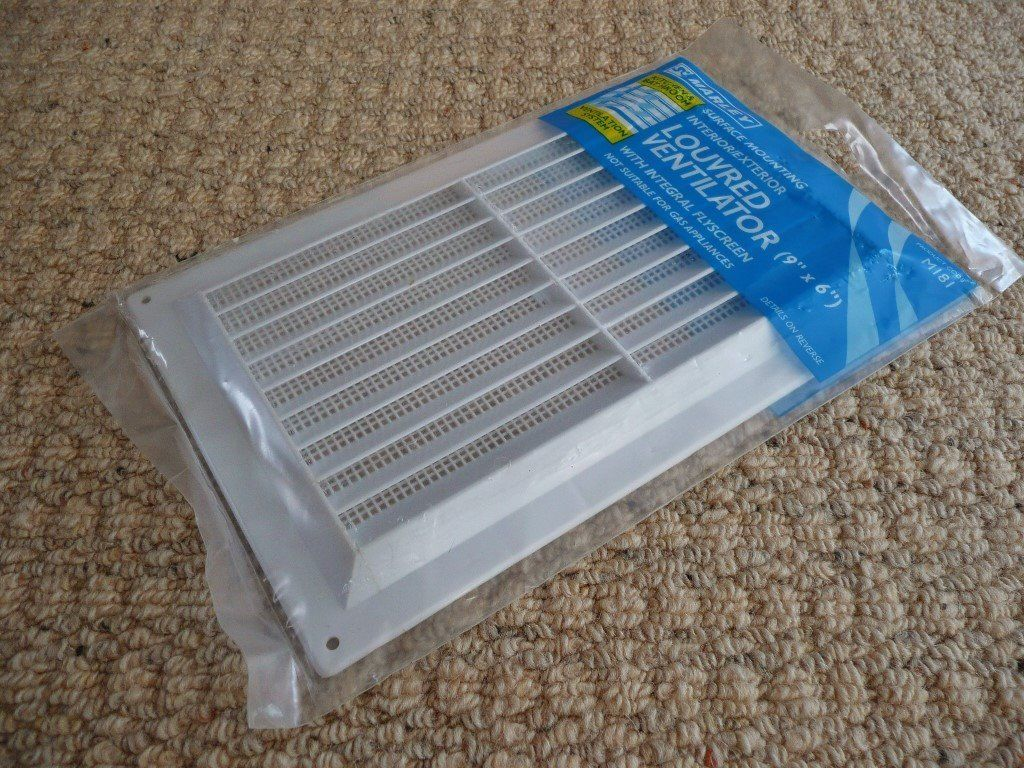 "Marley Interior / Exterior Louvered Ventilator / Vent Covers Openings up to 9"" X 6"""