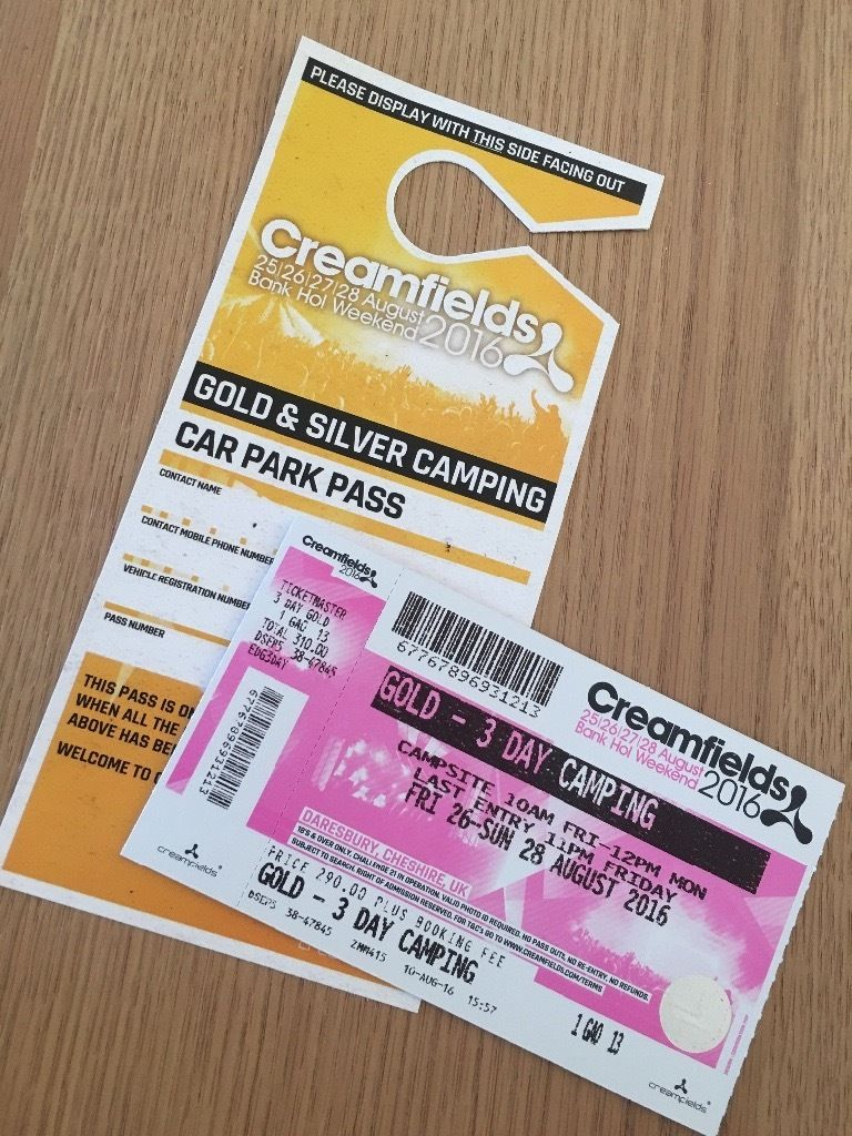 3 Day GOLD Camping Creamfields