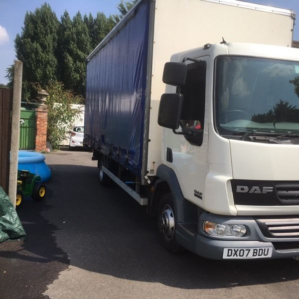 Daf lf 45-160 year 2007 curtain side had blue tail lift mot and taxed good working order