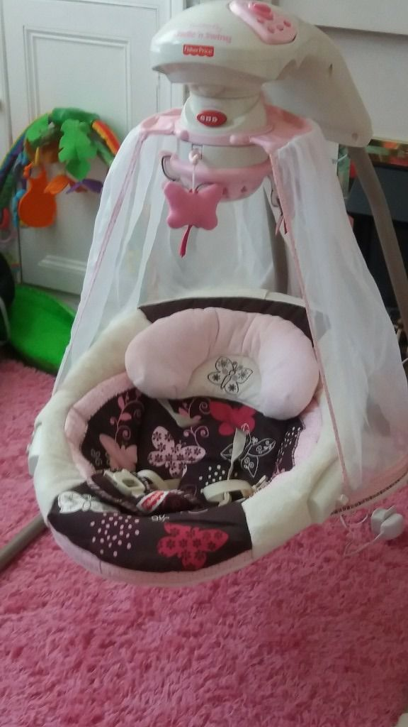**Beautiful fisherprice butterfly cradle and swing **