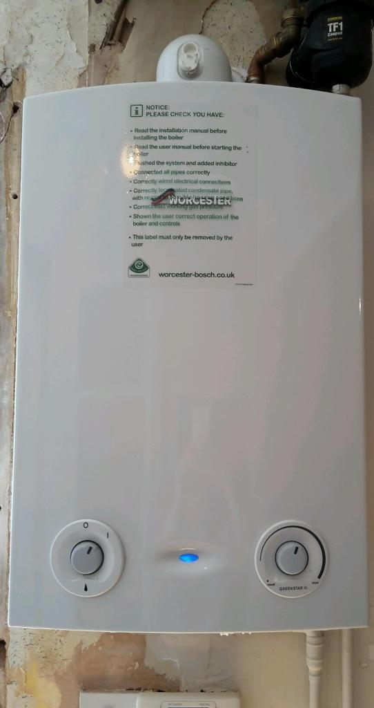Almost new boiler!! Worcester Bosch Green star ri boiler for a conventional heating system