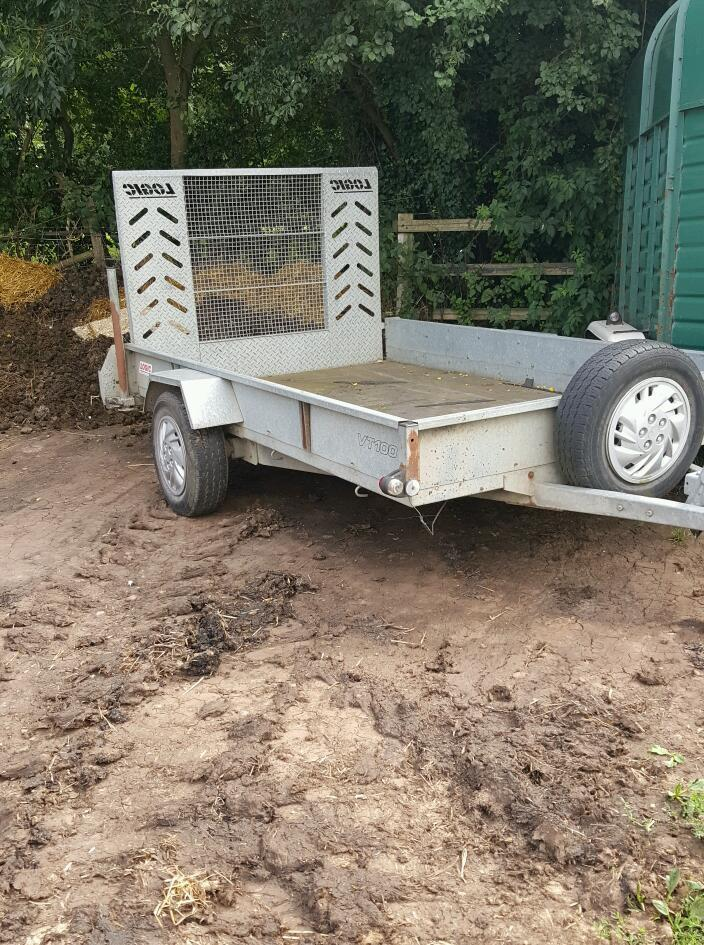 Car trailer, galvanised, ramp, braked, factory made!!
