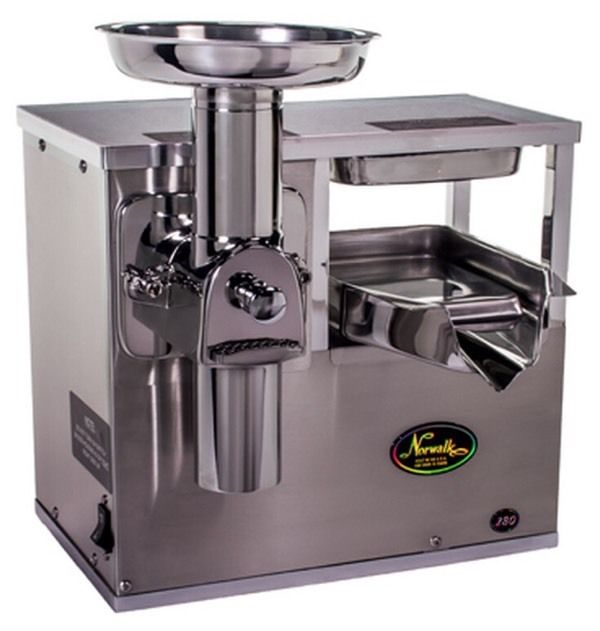 Norwalk juicer, Cold Press, Simply the best, barley used.