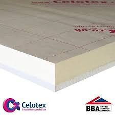 Celotex Insulation Thermal Laminate with plasterboard x 3