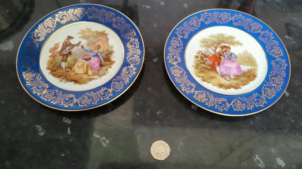 Pair of small plates limoges france