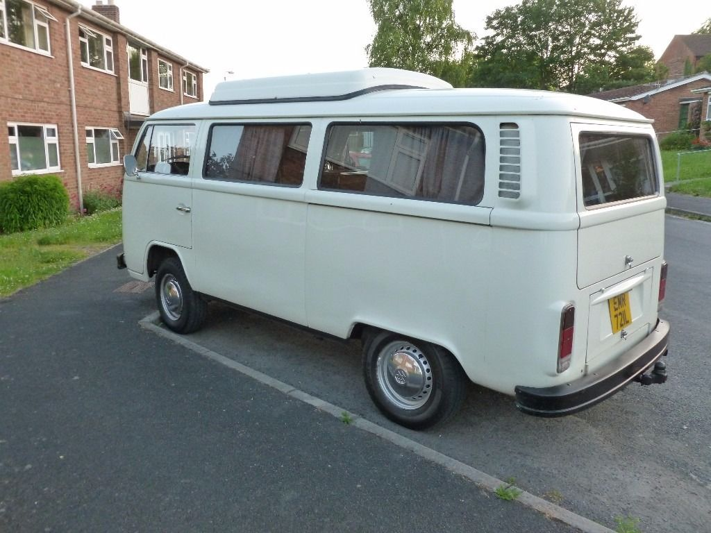"vw bay window camper 1973 lefthand drive westfalia ""madrid"" owned for 21 years."
