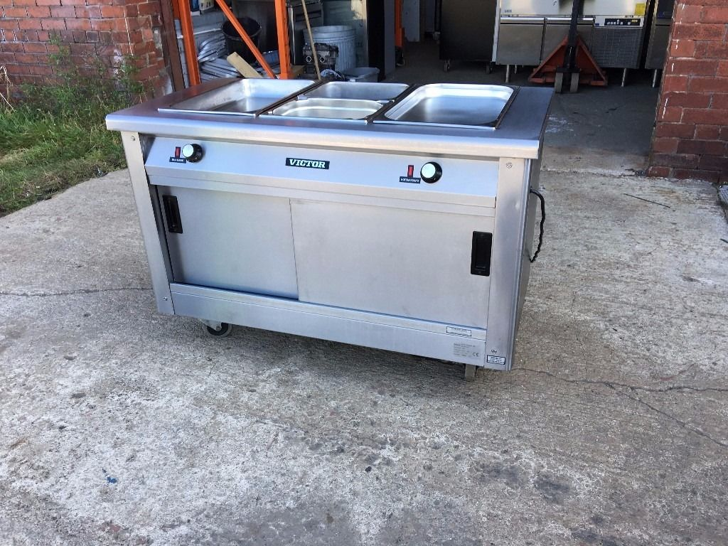 VICTOR COMMERCIAL CATERING HOT CUPBOARD / BAIN MARIE ELECTRIC 240 volt