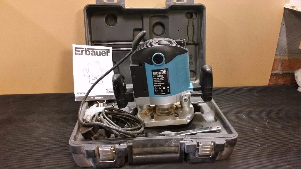 "ERBAUER 1/2"" ROUTER IN FULL WORKING ORDER COMPLETE WITH BOX MANUAL ETC"